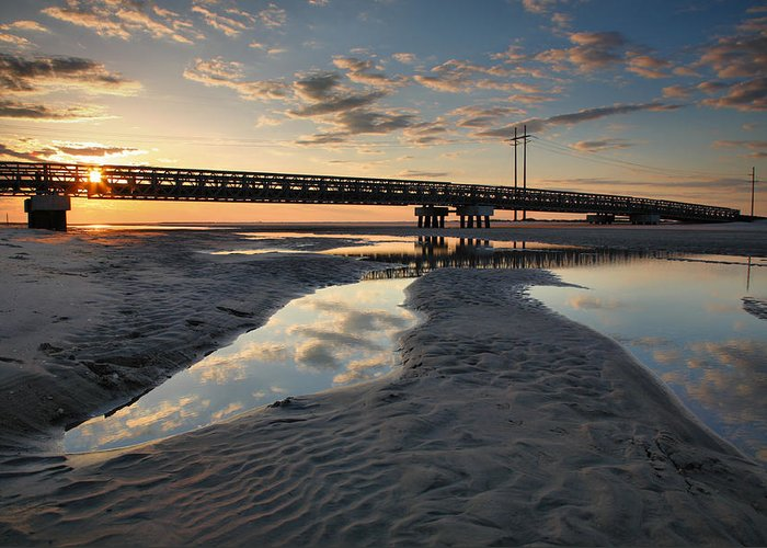 Pools Greeting Card featuring the photograph Coastal Ponds And Bridge II by Steven Ainsworth