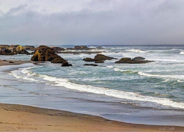 Beach Greeting Card featuring the photograph Coastal Serenity by Heidi Smith