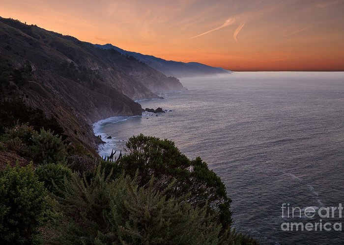 Big Sur Greeting Card featuring the photograph Coastal Sunrise II by Stuart Gordon