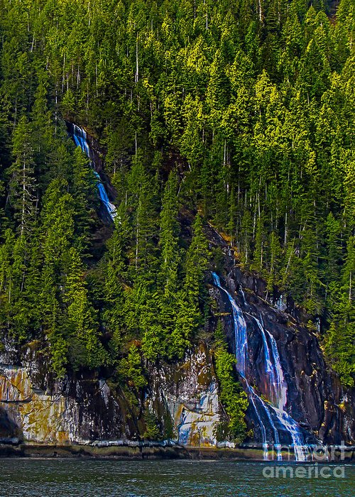 Waterfall Greeting Card featuring the photograph Coastal Waterfall by Robert Bales