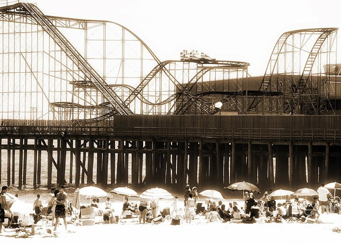 Coaster Ride Greeting Card featuring the photograph Coaster Ride by John Rizzuto