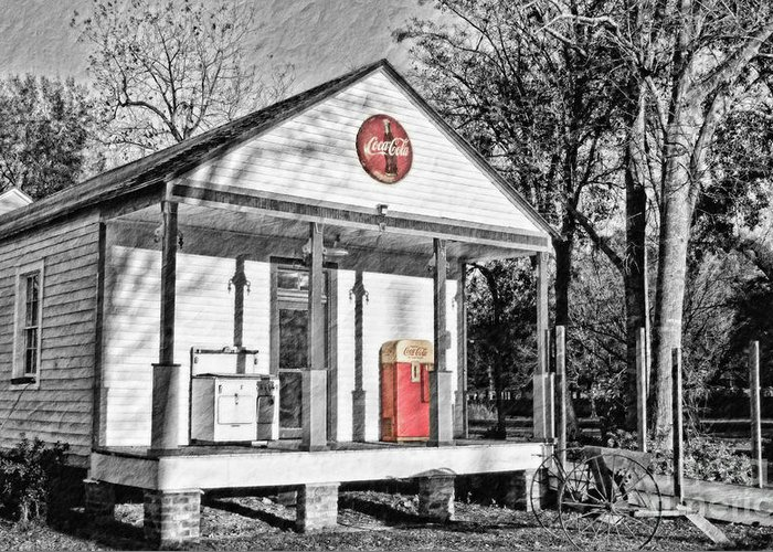 Coca Cola Greeting Card featuring the photograph Coca Cola In The Country by Scott Pellegrin