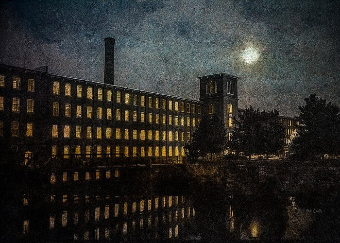 Dover Mill Greeting Card featuring the photograph Cocheco Falls Millworks by Bob Orsillo