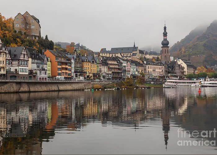 Cochem Greeting Card featuring the photograph Cochem 02 by Tom Uhlenberg