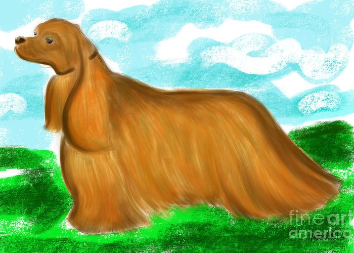 Dog Greeting Card featuring the painting Cocker Spaniel No 1 by Mary C Wells