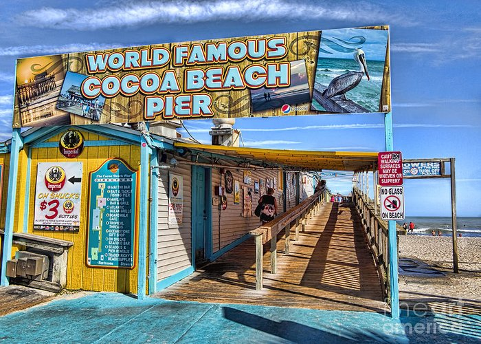 Cocoa Beach Pier Greeting Cards