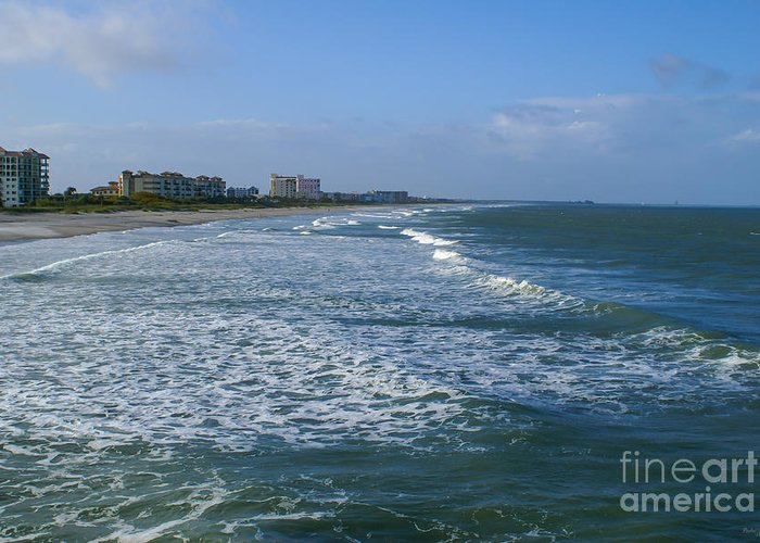 Atlantic Ocean Greeting Card featuring the photograph Cocoa Beach Seascape by Jennifer White