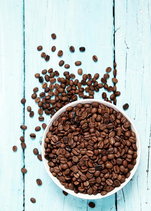 Heap Greeting Card featuring the photograph Coffee Beans by Barcin