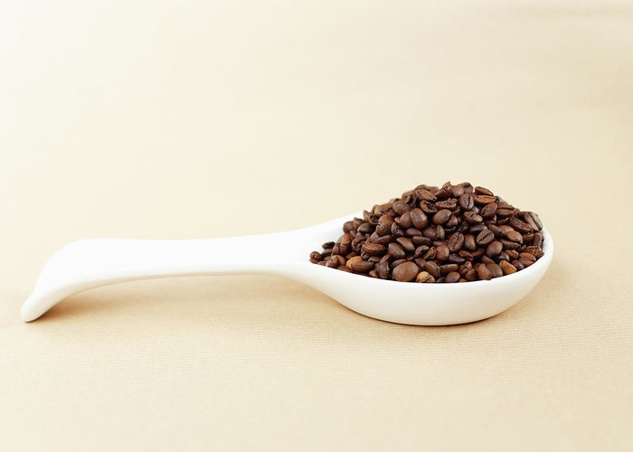 Spoon Greeting Card featuring the photograph Coffee Beans by Bbostjan