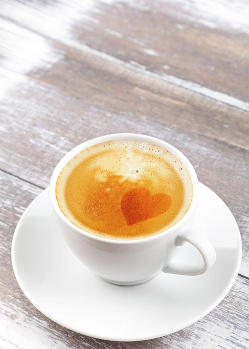 Cappuccino Greeting Card featuring the photograph Coffee by Focusstock