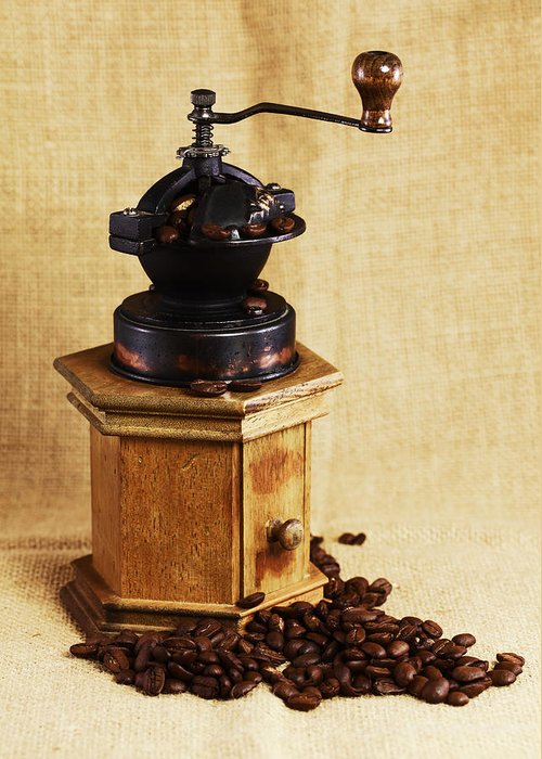 Kaffeem�hle Greeting Card featuring the photograph Coffee Grinder by Falko Follert