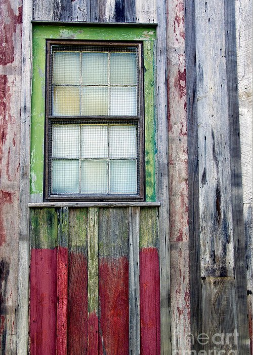 Architectural Details Greeting Card featuring the photograph Coforful Old House by Jean Manale