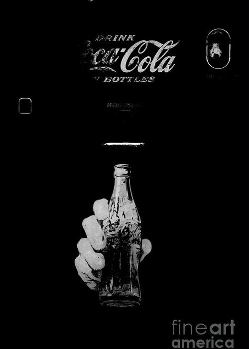Black And White Greeting Card featuring the photograph Coke by Amar Sheow
