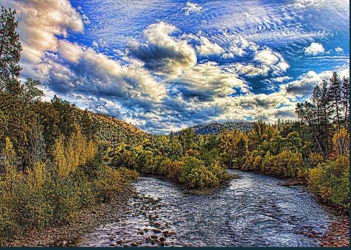 American River Greeting Card featuring the photograph Coloma 4 by Mike Durant
