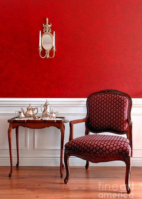Chair Greeting Card featuring the photograph Colonial Style by Olivier Le Queinec