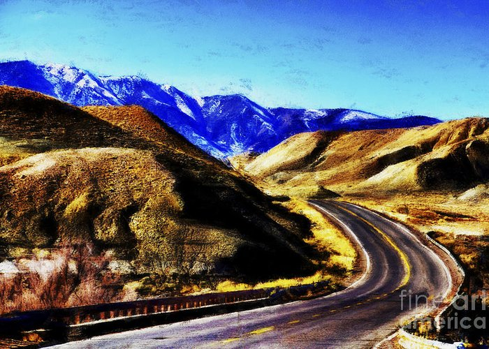 Flagstaff Greeting Card featuring the photograph Color My Road by Douglas Barnard