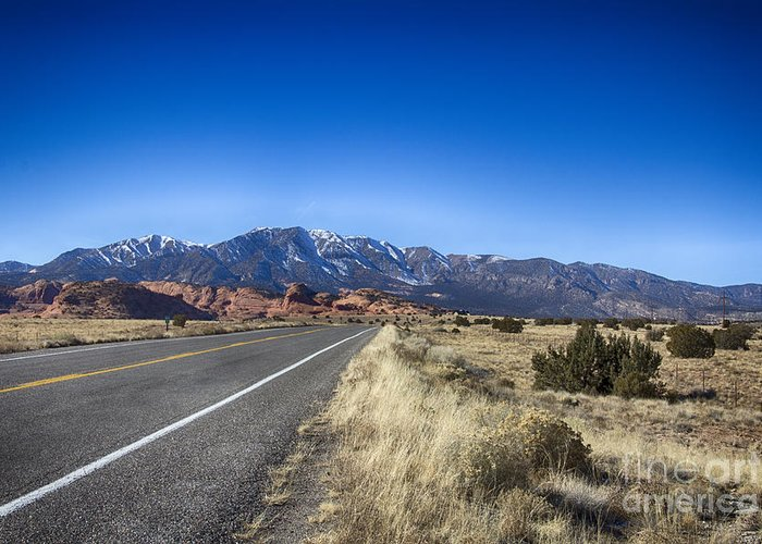Flagstaff Greeting Card featuring the photograph Color My Road V2 by Douglas Barnard