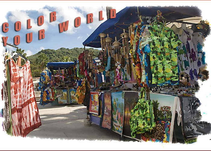 Street Scenes Greeting Card featuring the photograph Color Your World by Wynn Davis-Shanks