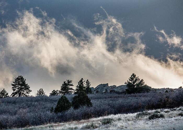 Colorado Greeting Card featuring the photograph Colorado Clouds by Karen Saunders