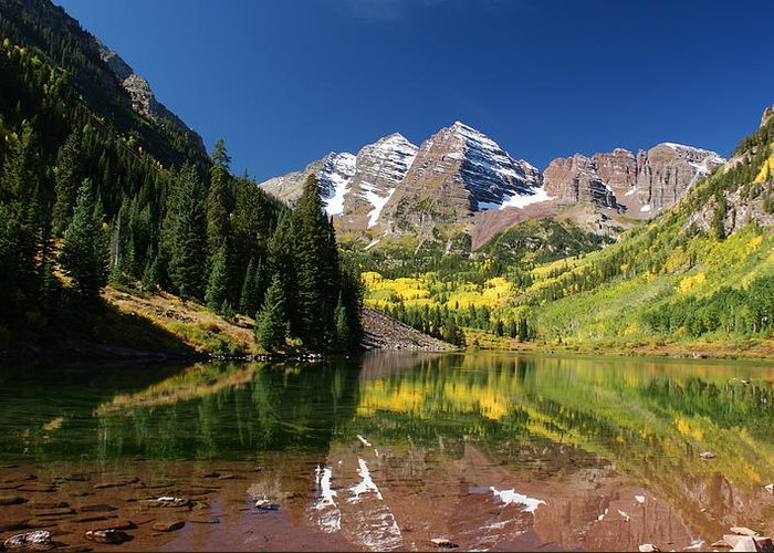 Colorado Greeting Card featuring the photograph Colorado Maroon Bells by Michael J Bauer