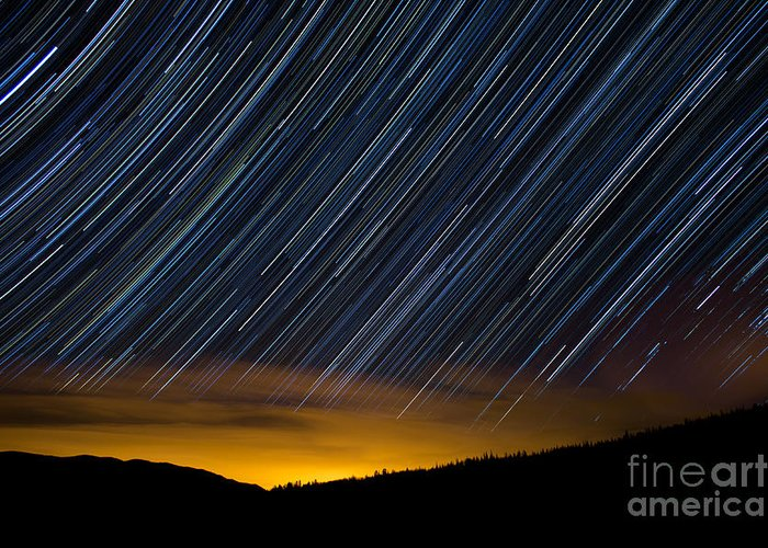 Surprise Trailhead Greeting Card featuring the photograph Colorado Mountain Startrails by Benjamin Reed