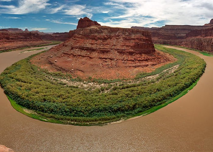 3scape Photos Greeting Card featuring the photograph Colorado River Gooseneck by Adam Romanowicz