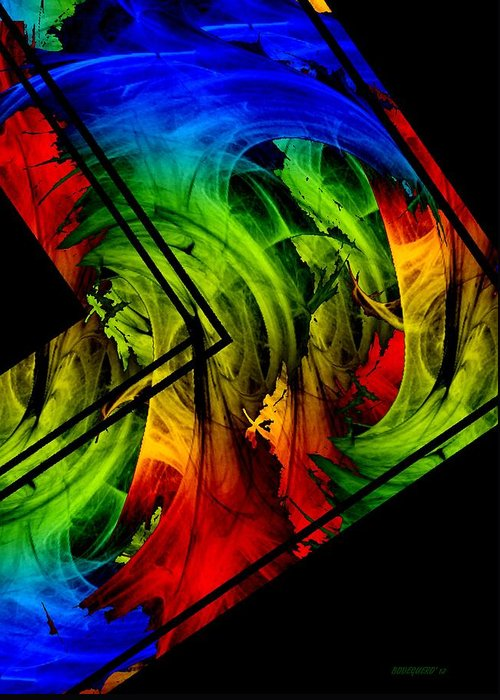 Colorful Greeting Card featuring the digital art Colored Abstract Art by Mario Perez