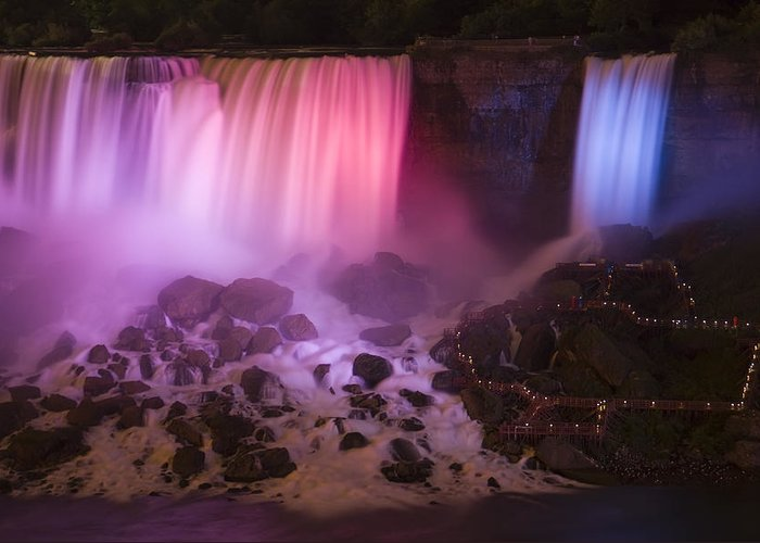3scape Photos Greeting Card featuring the photograph Colorful American Falls by Adam Romanowicz