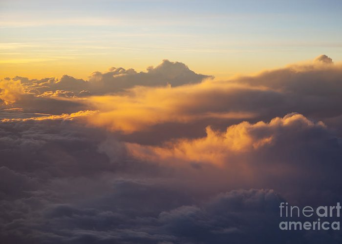 Above Greeting Card featuring the photograph Colorful Clouds by Brian Jannsen