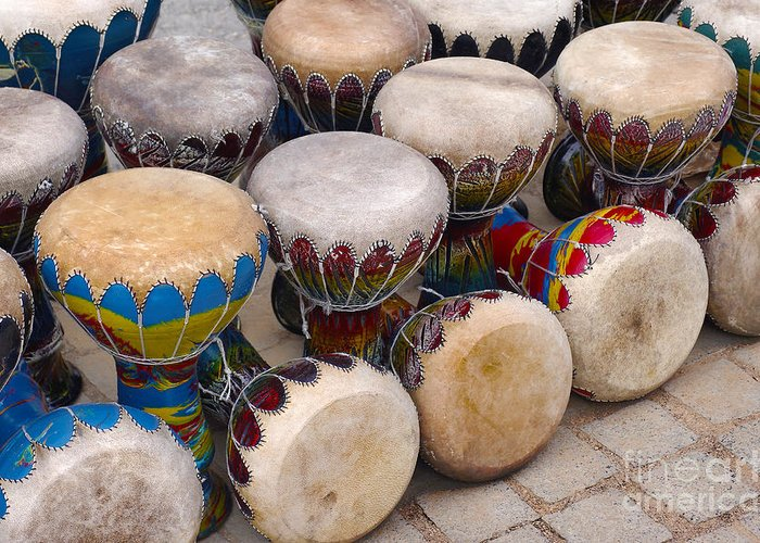 Handicraft Greeting Card featuring the photograph Colorful Congas by Carlos Caetano