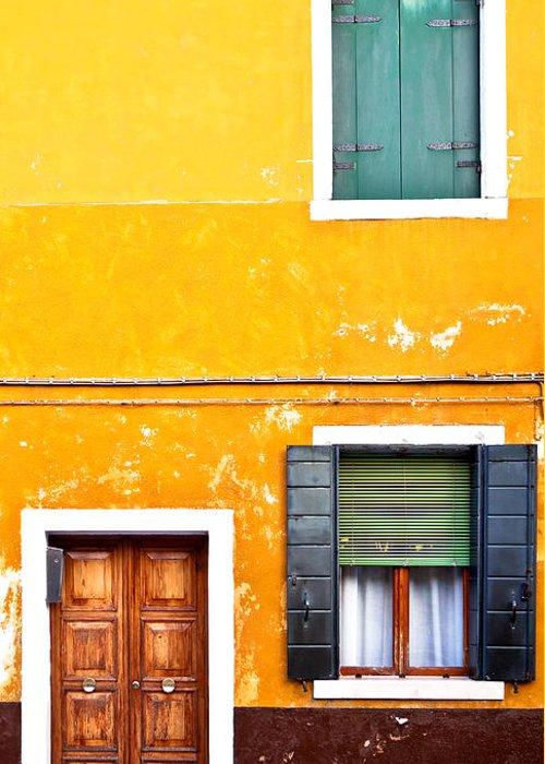 Door Greeting Card featuring the photograph Colorful Entry by Susan Schmitz