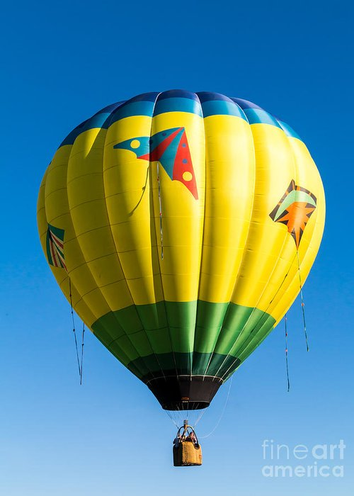 Hot Greeting Card featuring the photograph Colorful Hot Air Balloon Over Vermont by Edward Fielding
