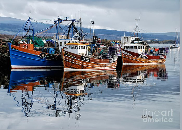 Scotland Greeting Card featuring the photograph Colorful Reflections by Lois Bryan
