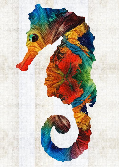 Hippocampus Greeting Cards