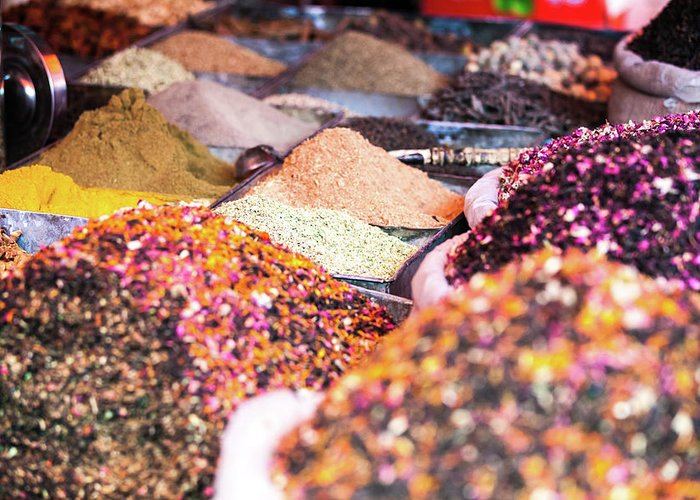 Heap Greeting Card featuring the photograph Colorful Spices For Sale At Kashgar by Matteo Colombo