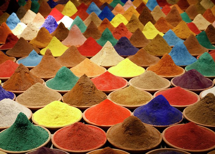 Heap Greeting Card featuring the photograph Colorful Spices by Gabriele Kahal - Www.flickr.com/photos/gabrielekahal