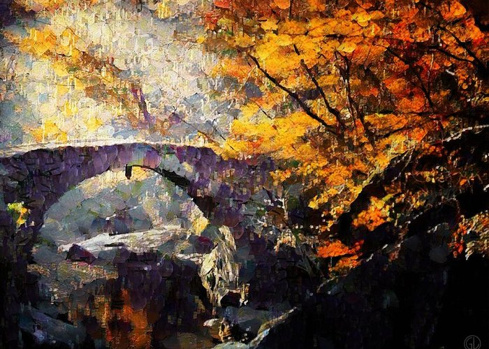 Landscape Greeting Card featuring the digital art Colors Of Autumn by Gun Legler