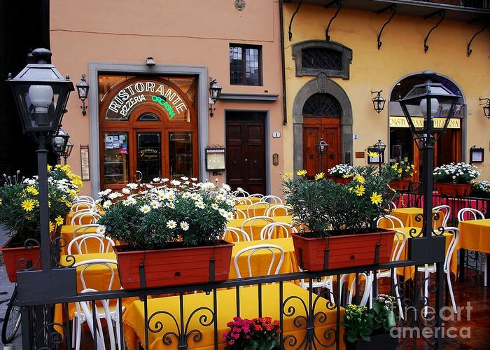 Colors Of Italy Greeting Card featuring the photograph Colors Of Italy by Mel Steinhauer