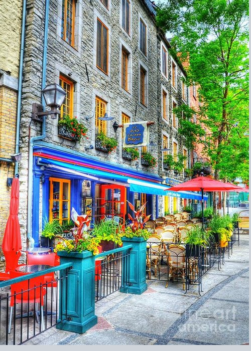 Quebec City Greeting Card featuring the photograph Colors Of Quebec 14 by Mel Steinhauer