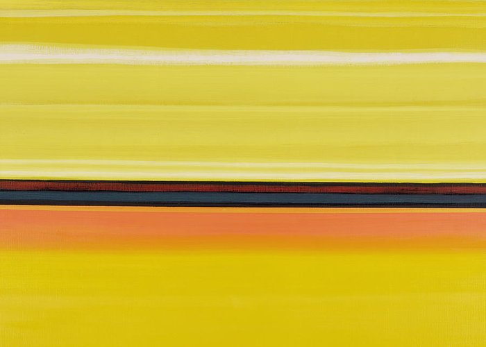 Abstract Greeting Card featuring the painting Colour Energy 13 by Izabella Godlewska de Aranda