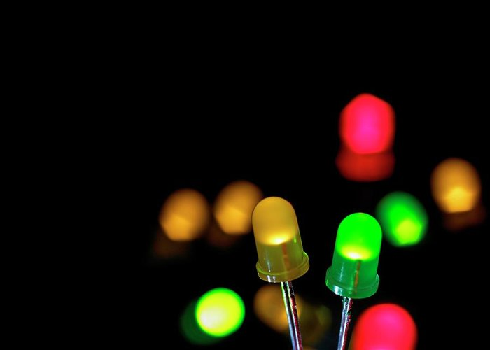 Leds Greeting Cards
