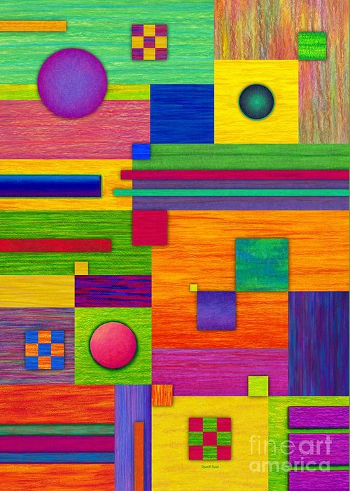 Colored Pencil Greeting Card featuring the painting Combination 2 by David K Small