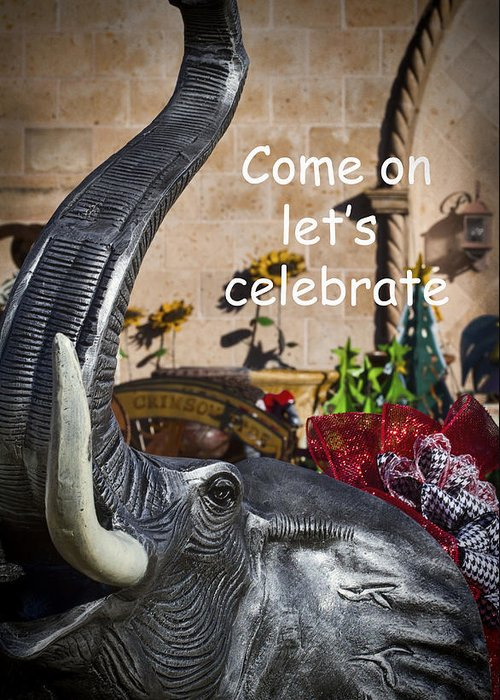 Come On Let's Celebrate Greeting Card featuring the photograph Come On Let's Celebrate by Kathy Clark