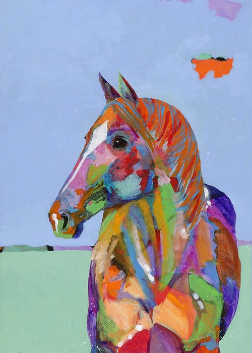 Tracy Miller Greeting Card featuring the painting Come On Over by Tracy Miller