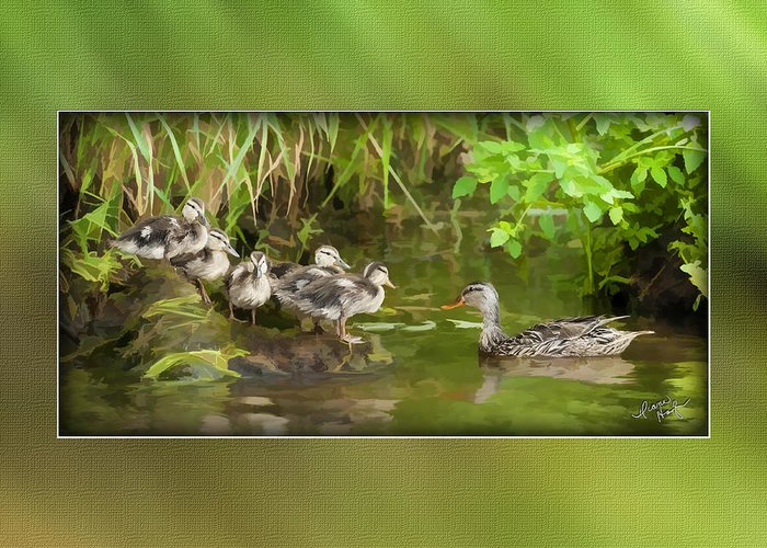 Baby Greeting Card featuring the digital art Come On...the Waters Fine. by Diane Hagler