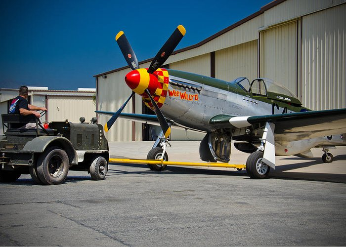 P-51 Mustang Greeting Card featuring the photograph Come Out And Play by Chris Sarenana