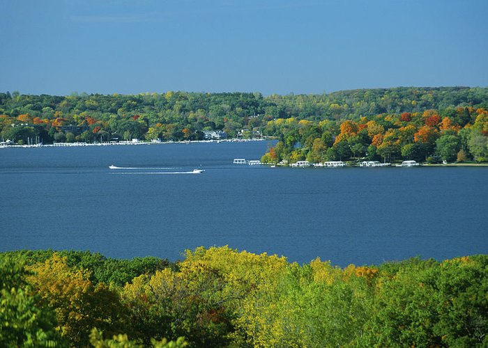 Lake Greeting Card featuring the photograph Coming And Going by Bruce Thompson