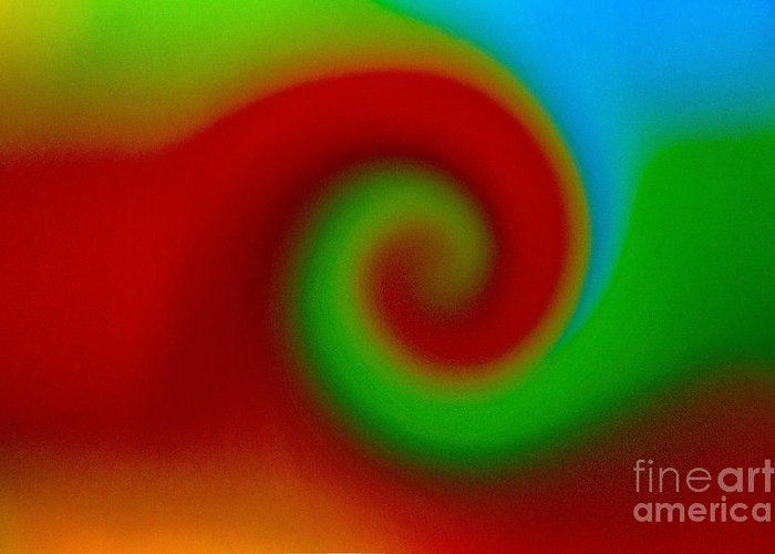 Abstract Greeting Card featuring the pastel Coming Together by Imani Morales