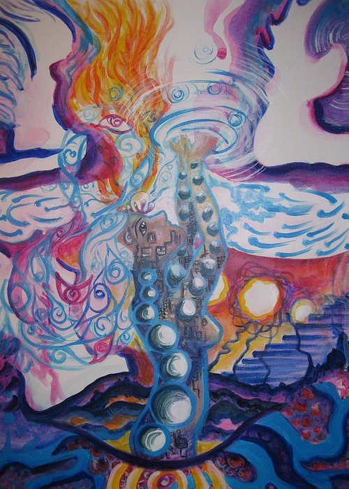 Spirituality Greeting Card featuring the painting Completion by Jessika Bechtel