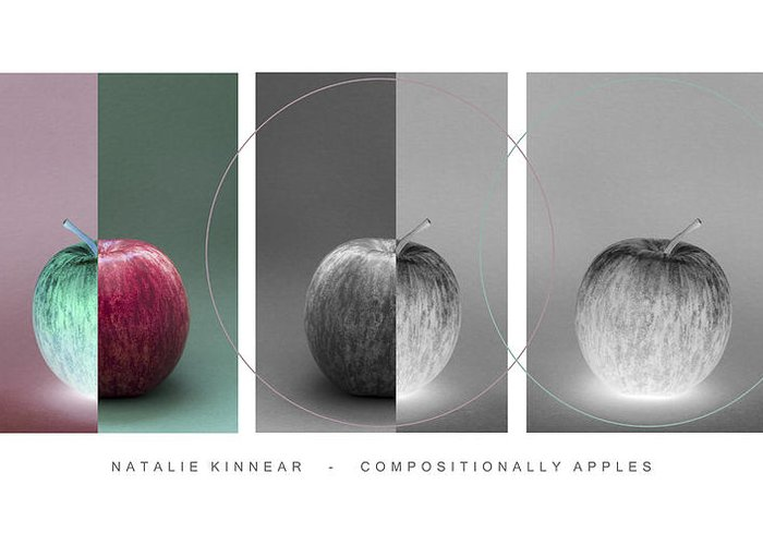 Apple Greeting Card featuring the photograph Compositionally Apples by Natalie Kinnear